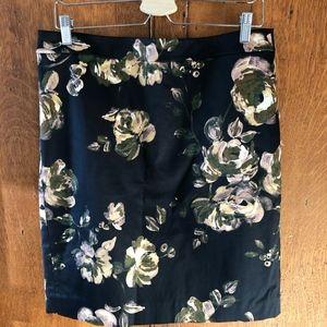 J. Crew Factory Lovely Floral pencil skirt, 12 EUC